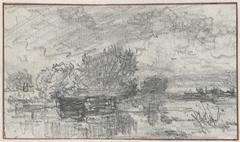 Schets van een landschap met water