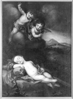 Schlafender Jesusknabe mit Engeln (Nachfolger)