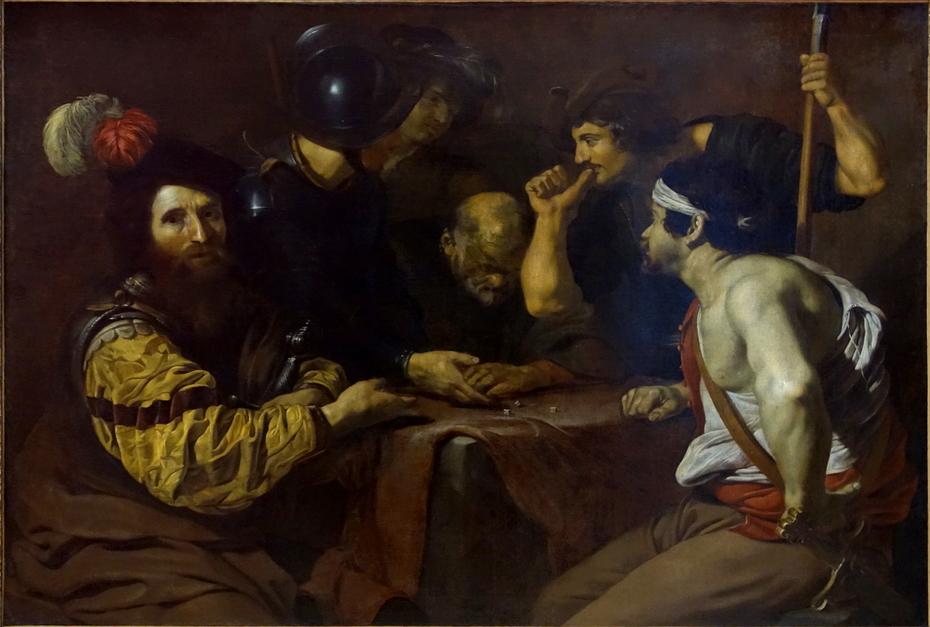 Soldats jouant aux dés la tunique du Christ