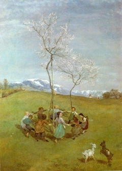 Spring in the mountains, Children dancing in a ring