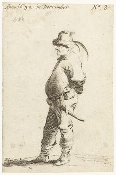 Staande boer, naar links