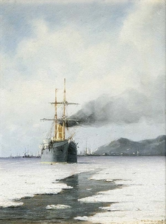 Steamer in the Ice Sea