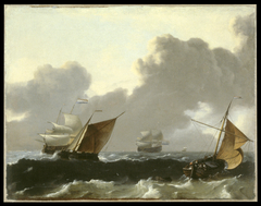 Dutch Ships in High Seas off the Dutch Coast