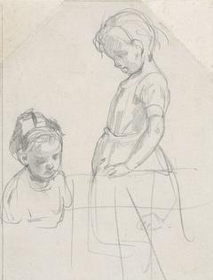 Studie van twee kinderen