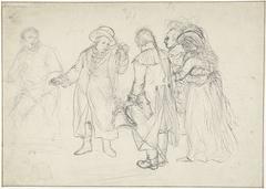 Studie voor het vertrek van Willem V naar Engeland, 18 januari 1795