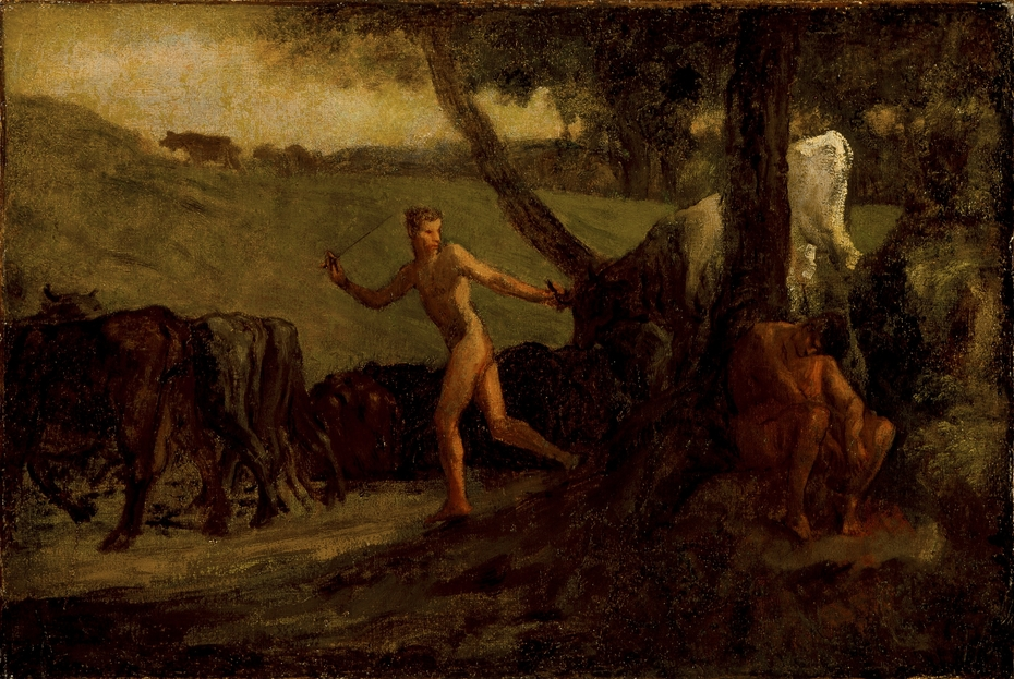 Study for 'Mercury Leading the Cows of Argus to Water'