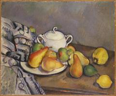 Sugar Bowl, Pears, and Tablecloth