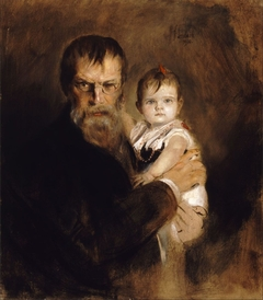 The Artist with his Daughter Gabriel