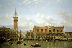 The Doge's Palace, Venice, from the Bacino di San Marco