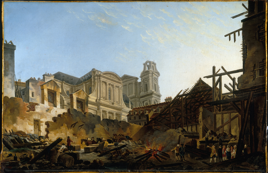 The Foire Saint-Germain after the fire of the night of 16 to 17 March 1762.