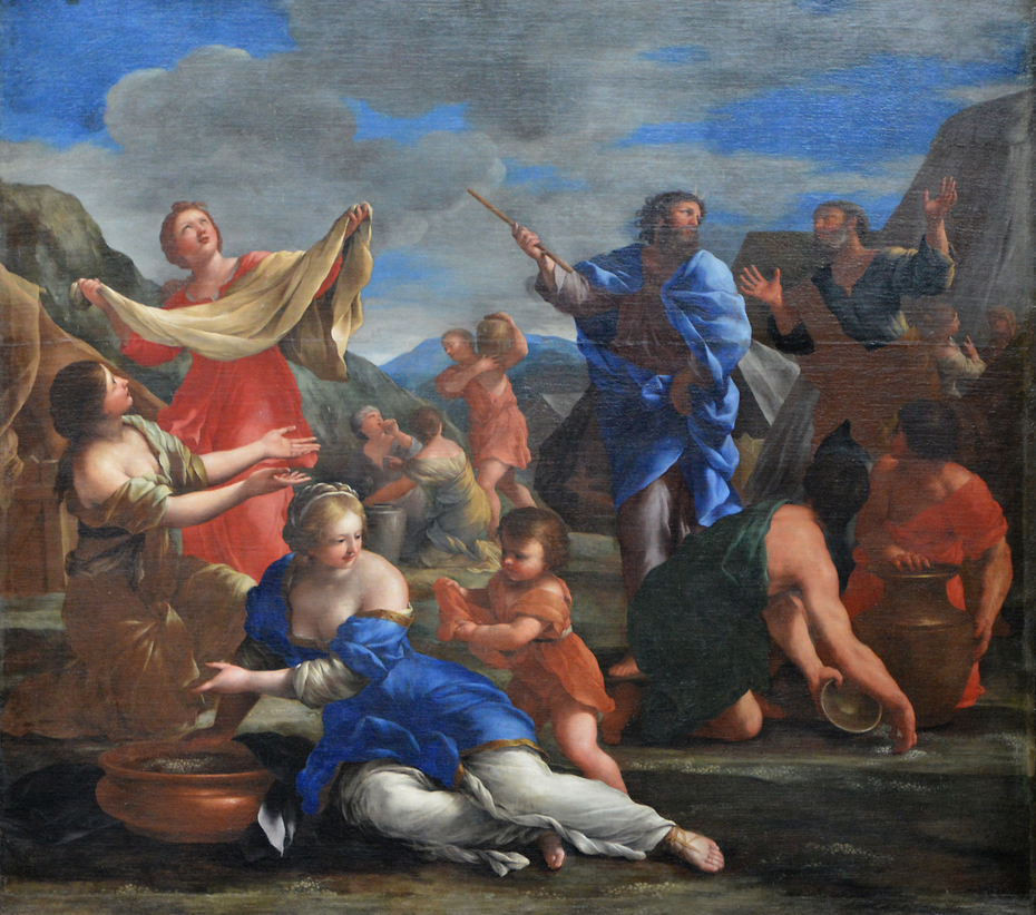 The Gathering of the Manna in the Desert