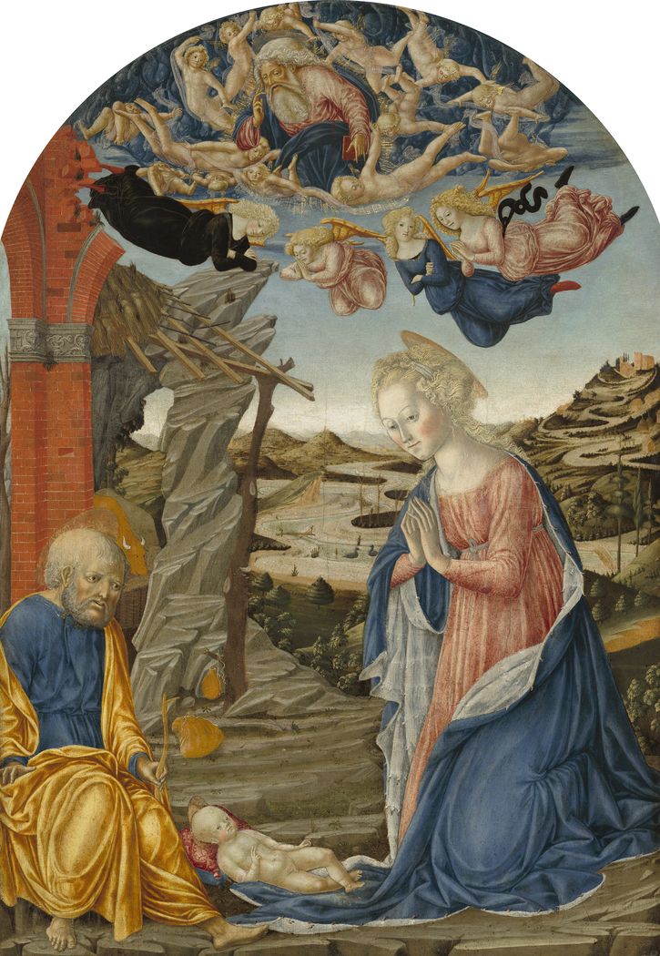 The Nativity, with God the Father Surrounded by Angels and Cherubim