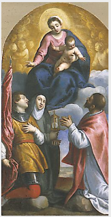 The Virgin and Child with Saints and Angels