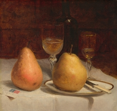 Two Pears on a Tabletop