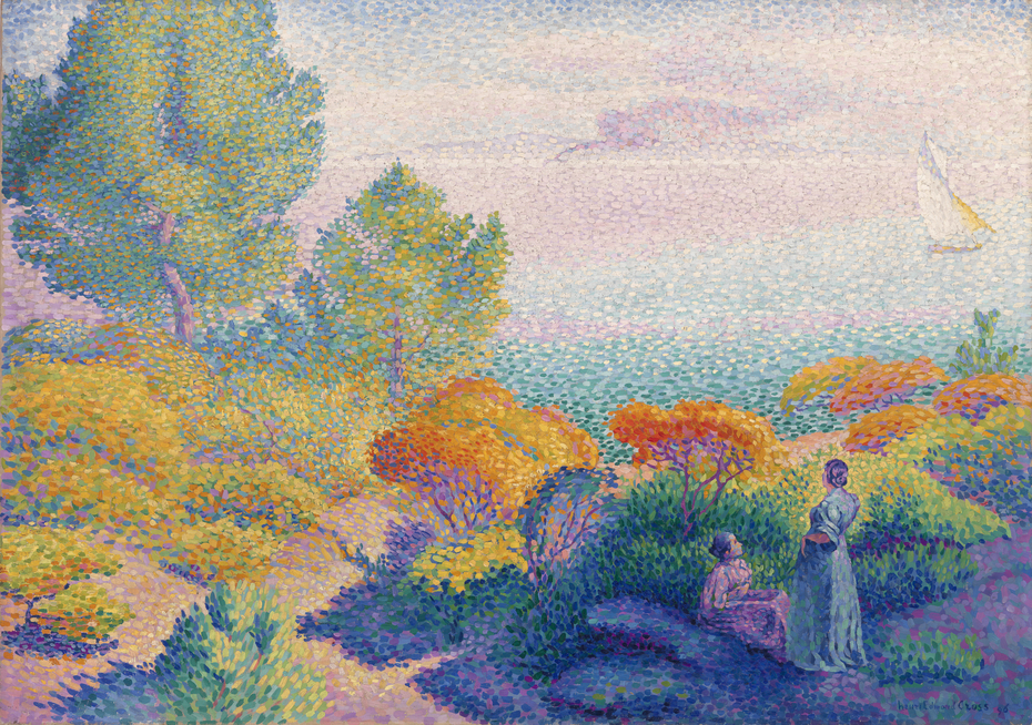Two Women by the Shore, Mediterranean