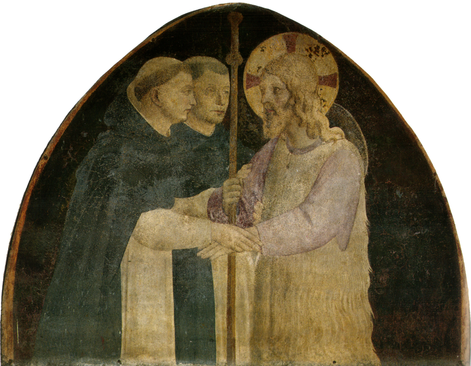 Cristo pellegrino accolto da due domenicani