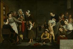 Het kleden der wezen-Dressing the orphans in the Diaconal Orphanage (Dressing the orphans in the Diaconal Orphanage)