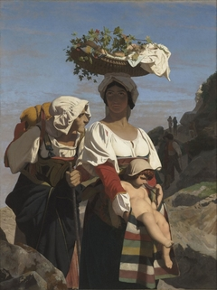 Deux paysannes italiennes et un enfant (Two Italian peasants and a child)