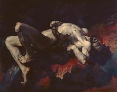 Ixion précipité dans les Enfers