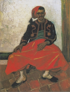 The Zouave, sitting