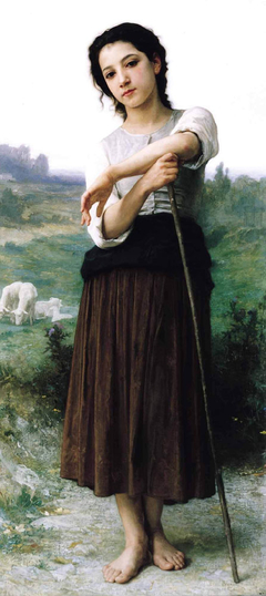 Young shepherdess standing