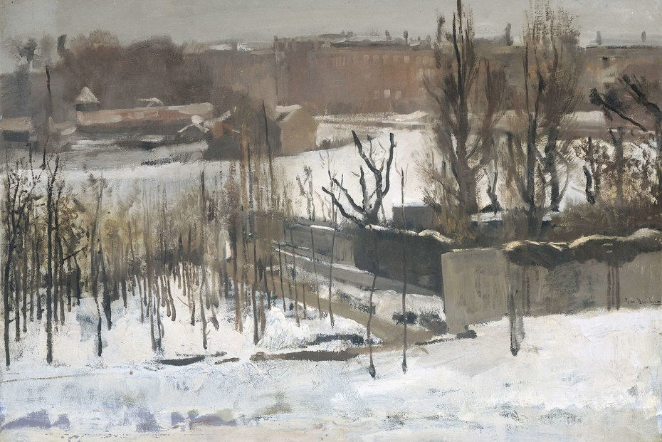 View of the Oosterpark, Amsterdam, in the Snow