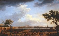 Vue du port de Toulon, le Port-Neuf pris à l'angle du Parc d'artillerie