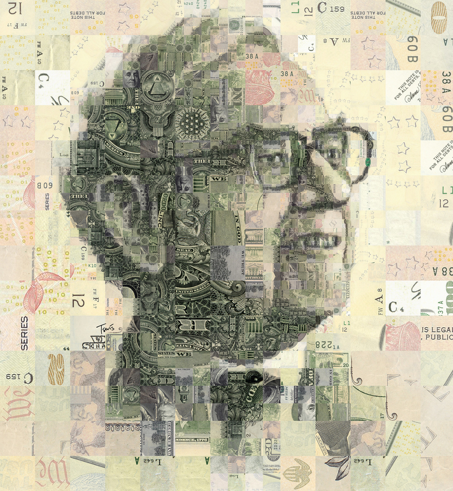Warren Buffett portrait for Transaero magazine
