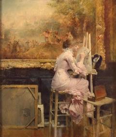 Watercolourist in the Louvre
