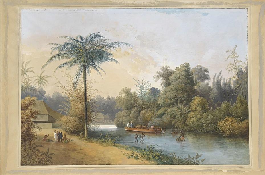 Waterval te Tjieroek Betong Java