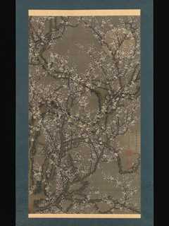 White Plum Blossoms and Moon
