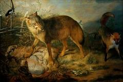 Wolf reißt ein Lamm