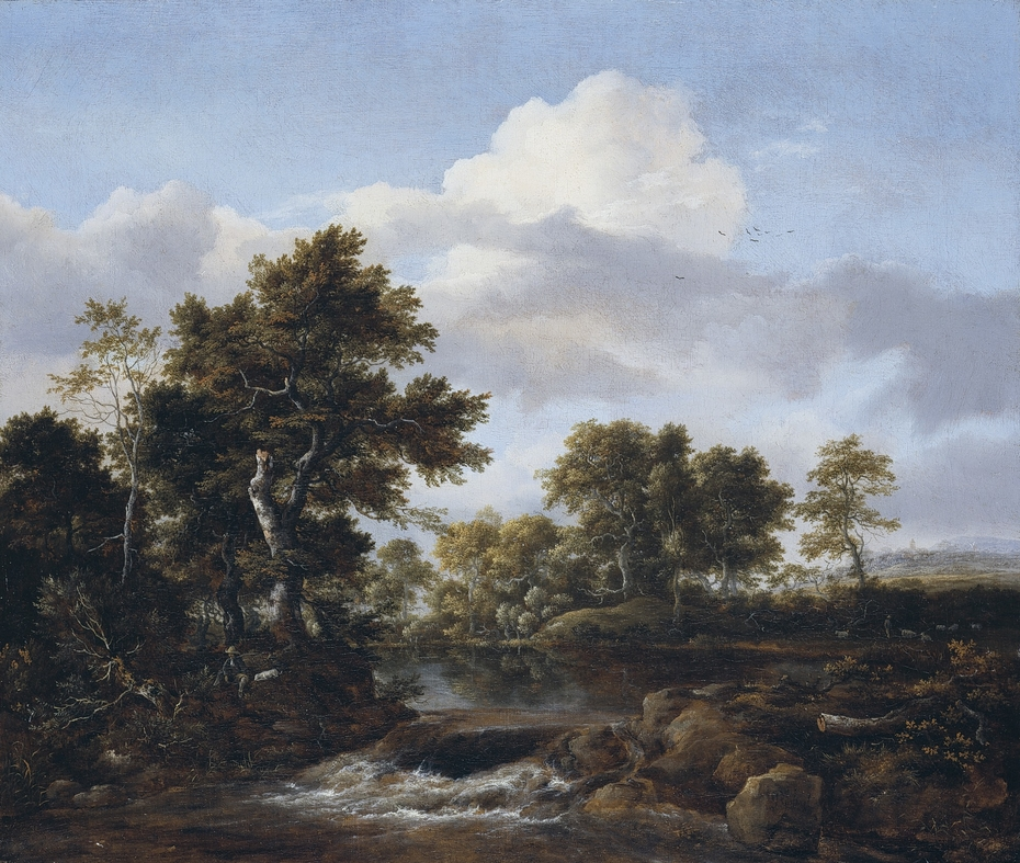 Wooded Landscape with a Stream