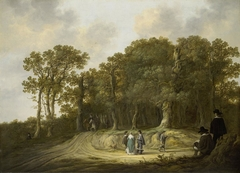 Wooded Landscape with an Artist