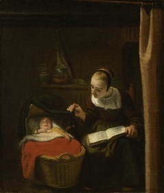 Young Woman at a Cradle