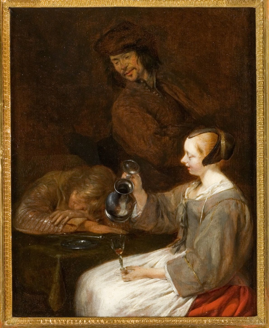 Young Woman Filling her Glass