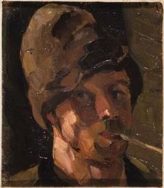 Zelfportret met pijp