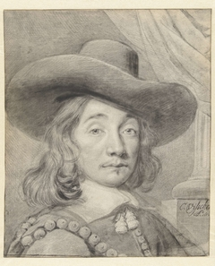 Zelfportret van Cornelis Visscher