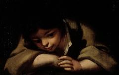A boy resting
