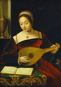 A female lutenist
