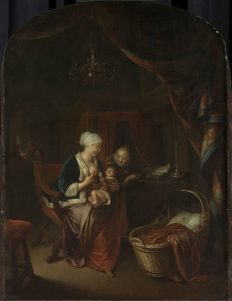 A mother giving her child the breast