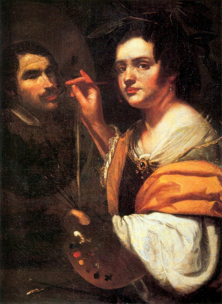 A Woman Painting a Man
