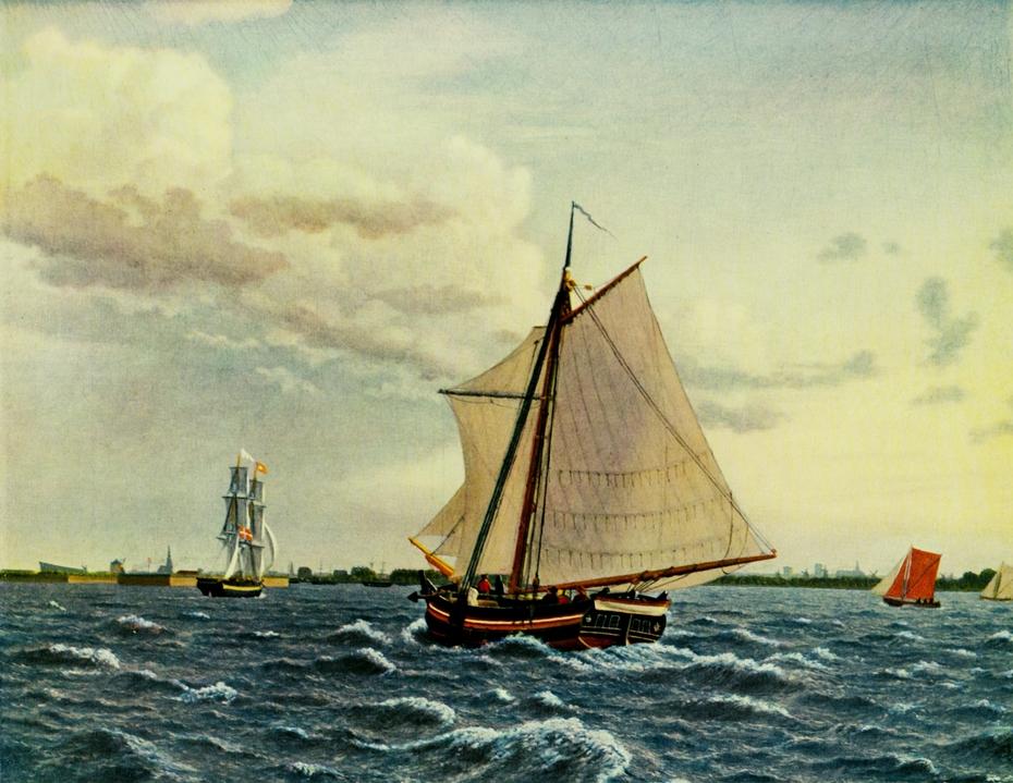 A yacht at the roads of Copenhagen