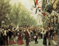 Abreise König Wilhelms I. zur Armee am 31. Juli 1870