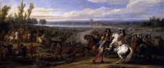Adam Frans van der Meulen - Crossing of the Rhine on 12 June 1672
