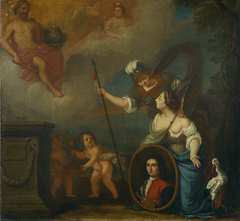 Allegorical Self-portrait wearing Orphan uniform