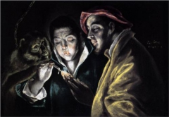 An Allegory with a Boy Lighting a Candle in the Company of an Ape and a Fool (Fabula)