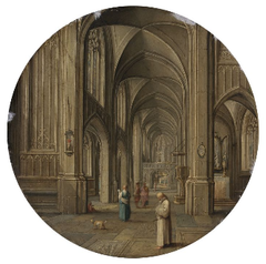 An Interior of a Church, with Figures
