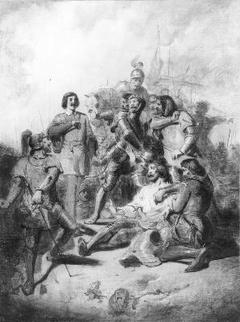 Anno 1371. Hertog Eduard van Gelre wordt te Baesweiler verraderlijk doodgeschoten