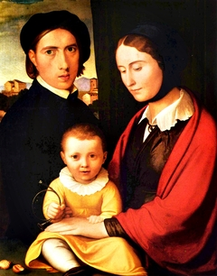 Artist's Self-portrait with Wife and Son Alfons
